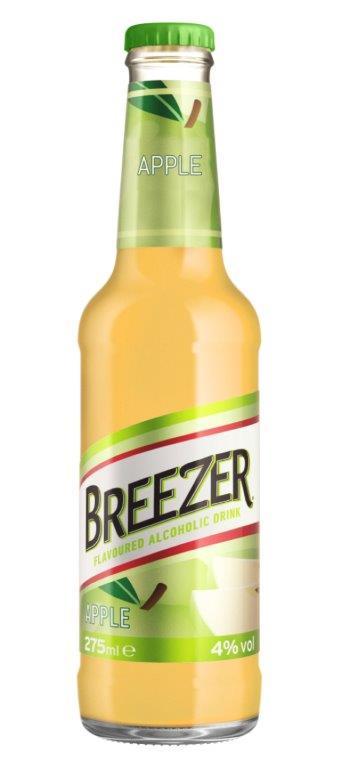 בריזר, המרענן האלכוהולי, מצרף טעם חדש לרשימת הטעמים האהובים - בריזר בטעם תפוח .סקירה דוסיז צרכנות
