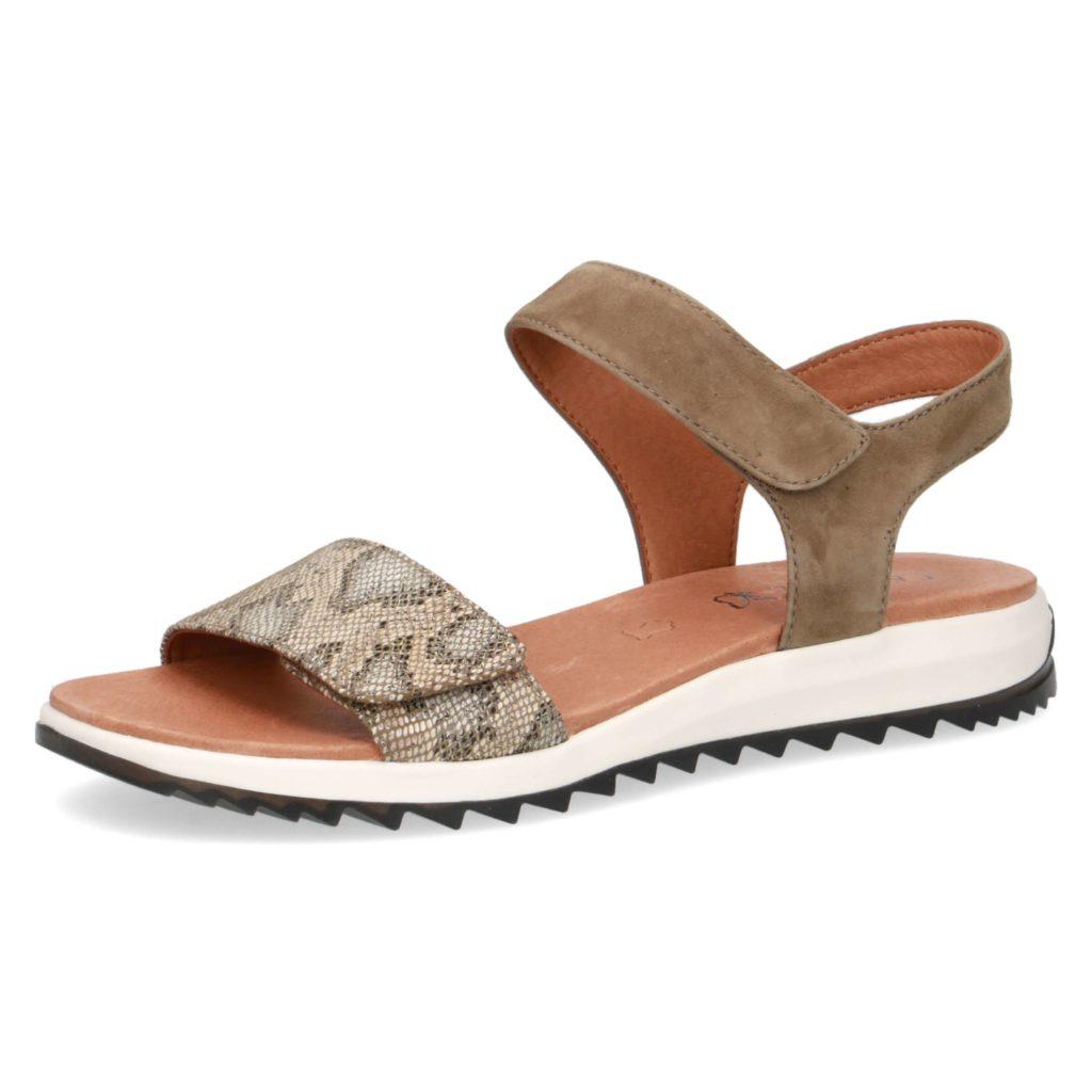 מותג נעלי הנוחות CAPRICE, מציג סנדלים שטוחים יומיומיים בעלי רפידה ייחודית בעלת יכולת זיכרון. סקירה דוסיז צרכנות