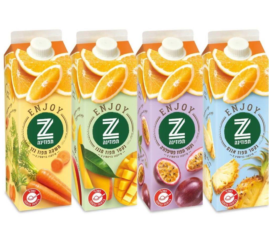 הנאה של תפוזינה: ENJOY - סדרה חדשה של תפוזינה עם אחוזי פרי גבוהים במיוחד. סקירה דוסיז צרכנות