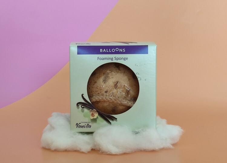 מותג הטיפוח BALOONS מציע לקיץ 2021 ספוג רחצה חדשני: מעושר בסבון וניל . סקירה דוסיז צרכנות
