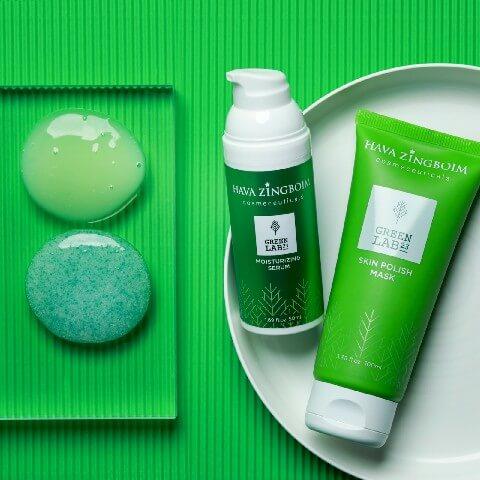 סדרת מוצרי GREEN LAB 23 מבית מותג הקוסמטיקה חוה זינגבוים. סקירה דוסיז צרכנות