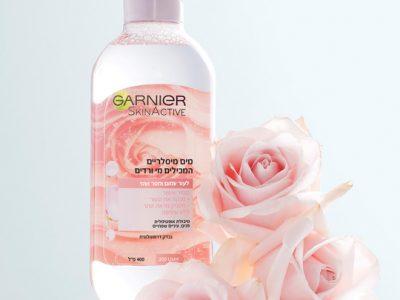 מותג הטיפוח הבינלאומי GARNIER משיק: מי מיסלר ורדים. סקירה דוסיז צרכנות