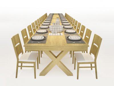 שוברים שיא ישראלי חדש: שולחן החג הארוך ביותר בישראל . סקירה דוסיז צרכנות