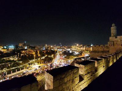 טיילת החומות הדרומית בלילה צילום דר דוד גורביץ.jpg. חוה